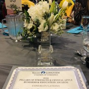 2019 Nonprofit of the year award from the Chamber Business & Education Awards